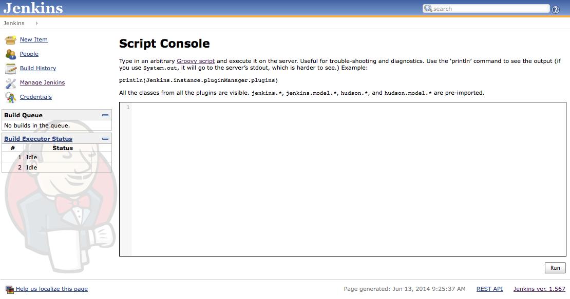Jenkins Groovy Script Console