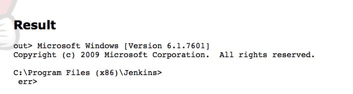 Jenkins Code Execution