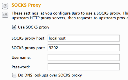 Burp Suite Tutorial - SOCKS Proxy Settings