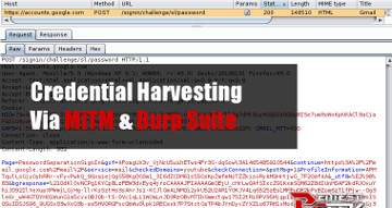 Burp Suite Credential Harvesting